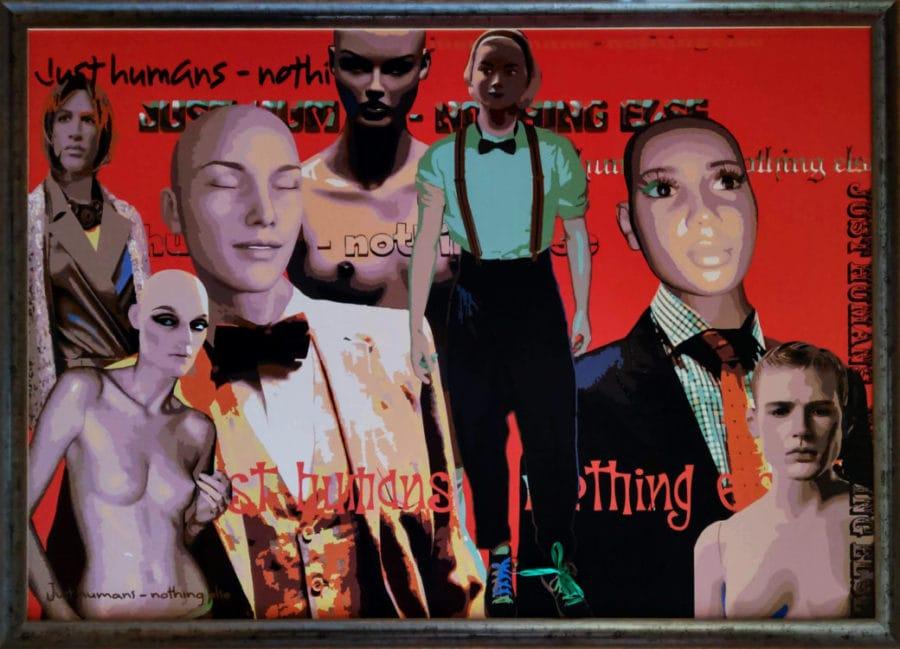 Just humans...nothing else. Digital Art auf Hartschaumplatte gerahmt. 108 x 158 cm. Preis auf Anfrage