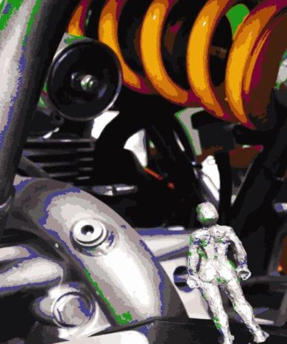 Too small to ride... Dies Bild ist ein Artivive-Bild!