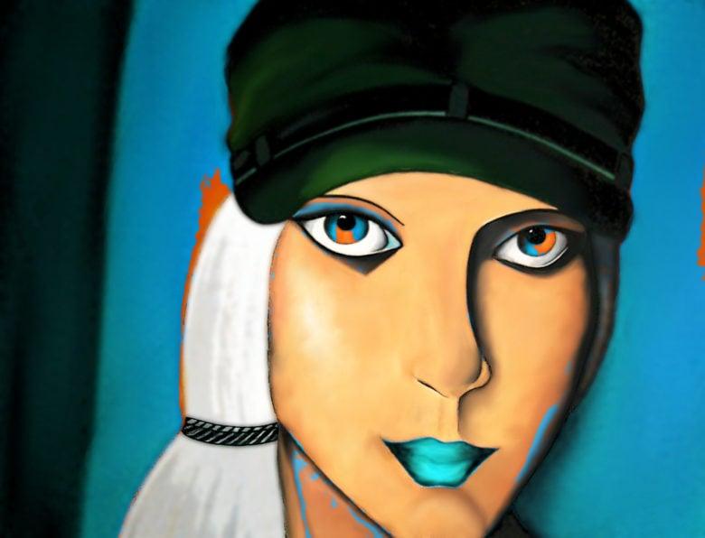 Digital bearbeitete Malerei von Eva Leopoldi